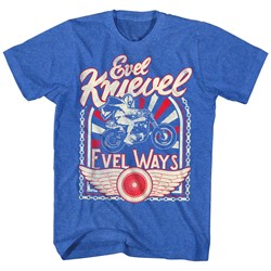 Evel Knievel - Mens Evel Ways 2 T-Shirt