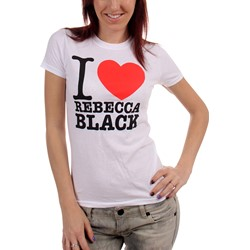 Rebecca Black - Juniors I Love Rebecca T-shirt in White