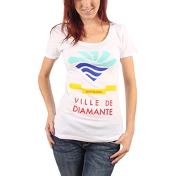 Diamond Supply Co. - Womens Town of Diamond Scoop T-Shirt in White