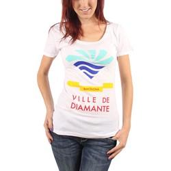 Diamond Supply Co. - Womens Town of Diamond Scoop T-Shirt in White