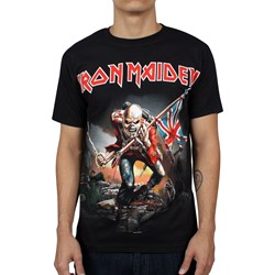 Iron Maiden - The Trooper Mens T-shirt in Black