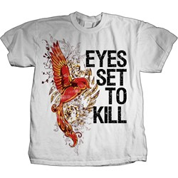 Eyes Set To Kill - Mocking Bird Mens T-Shirt In White
