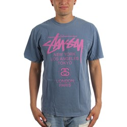 Stussy - Mens World Tour Pigment Dyed T-Shirt