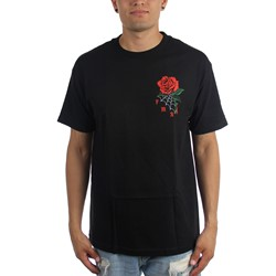 Famous Stars and Straps - Mens Red Rose T-Shirt