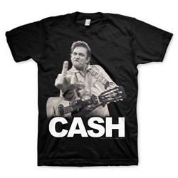 Johnny Cash - Mens The Bird T-Shirt