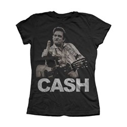 Johnny Cash - Womens The Bird T-Shirt