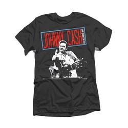 Johnny Cash - Mens Folsom Finger T-Shirt
