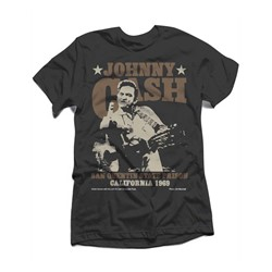 Johnny Cash - Mens Outlaw Finger T-Shirt