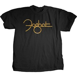 Foghat - Mens Gold Logo T-Shirt