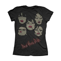 New York Dolls - Womens Faces T-Shirt