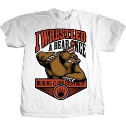 Iwrestledabearonce - Mens Party Mascot T-Shirt