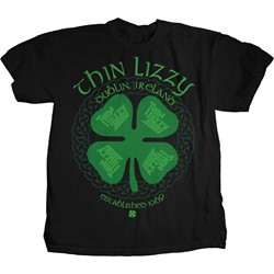 Thin Lizzy - Mens Four Leaf Clover T-Shirt