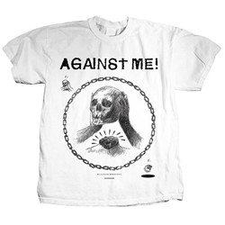 Against Me - Mens Skullhead Drawing T-Shirt