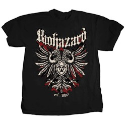 Biohazard - Mens  2-sided Crest Logo T-Shirt