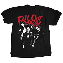 Fall Out Boy - Mens Punk Scratch Photo T-Shirt