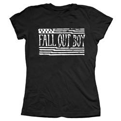 Fall Out Boy - Womens Split Flag T-Shirt