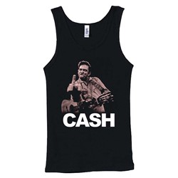 Johnny Cash - Womens The Bird Tank Top