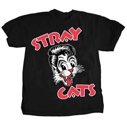 Stray Cats - Mens Cat Head Logo T-Shirt
