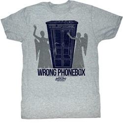 Bill And Ted - Mens Wrong Phonebox T-Shirt