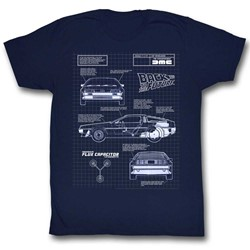 Back To The Future - Mens Blueprint T-Shirt