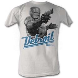 Robocop - Detroit Mens T-Shirt In Silver