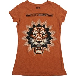 Superheavy - Juniors Burnt Orange Slub T-Shirt In Burnt Orange