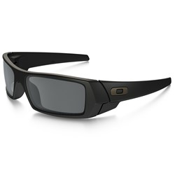 Oakley Gas Can Polarized Matte Black/Black Iridium Gradient Sunglasses