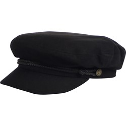 Fiddler Hat in Black Herringbone by Brixton