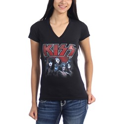 Kiss - Juniors Kings V-Neck T-Shirt