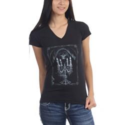 Anne Stokes - Womens Candelabra V-Neck T-Shirt