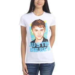 Justin Bieber - Juniors Criss Cross T-Shirt In White