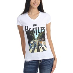 The Beatles - Womens Abbey Road V-Neck T-Shirt