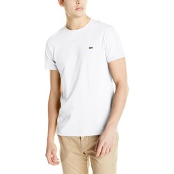 Lacoste - Mens Short Sleeve Pima Jersey Crew T-Shirt in White