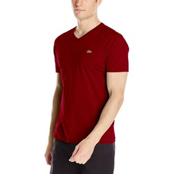 Lacoste Men's Short Sleeve Jersey Pima V Neck T-Shirt