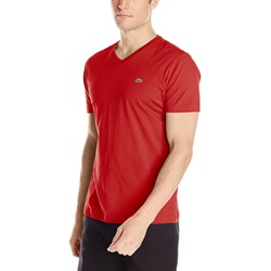 Lacoste Men's Short Sleeve Jersey Pima V Neck T-Shirt