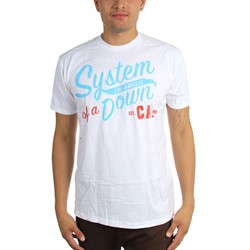 System Of A Down - Mens Script Ca Col T-Shirt