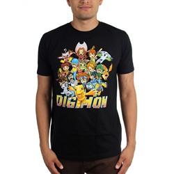 Digimon - Mens Group Shot T-Shirt