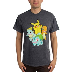 Pokemon - Mens 4 Pokemon T-Shirt