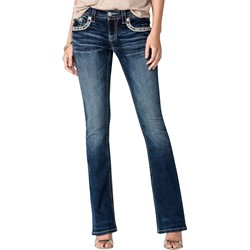 Miss Me - Womens Golden Sunset Mid Rise Bootcut Jeans