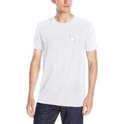 True Religion - Mens Metallic Gold Buddha T-Shirt