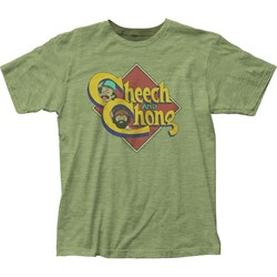 Cheech & Chong - Mens Caricature Logo Fitted Jersey T-Shirt