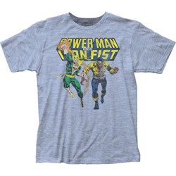 Iron Fist - Mens Power Man & Iron Fist Fitted Jersey T-Shirt