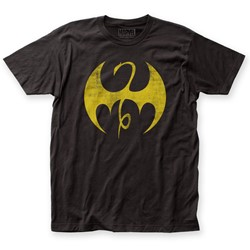 Iron Fist - Mens Distressed Logo Fitted Jersey T-Shirt