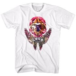 Cbgb - Mens Faceted Skull Wings T-Shirt