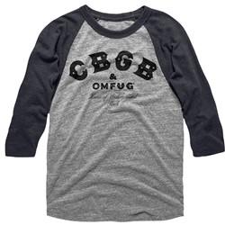 Cbgb - Mens Cbgb Black Raglan
