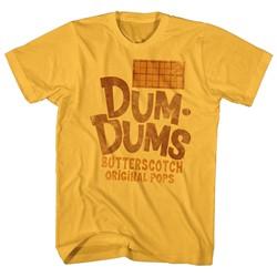 Dum Dums - Mens Butterscotch T-Shirt