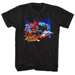 Street Fighter - Mens Alley Fight T-Shirt