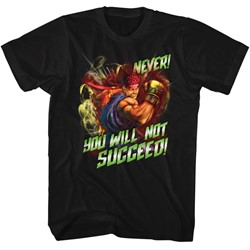 Street Fighter - Mens Never Succeed T-Shirt