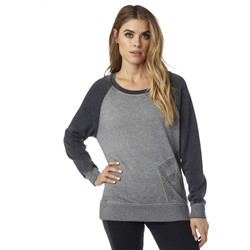 Fox - Womens Angled Pullover Crew Hoodie
