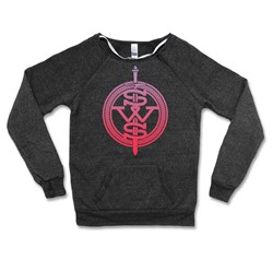 Sleeping With Sirens - Womens Sws Pink Fade Symbol Logo Sweater